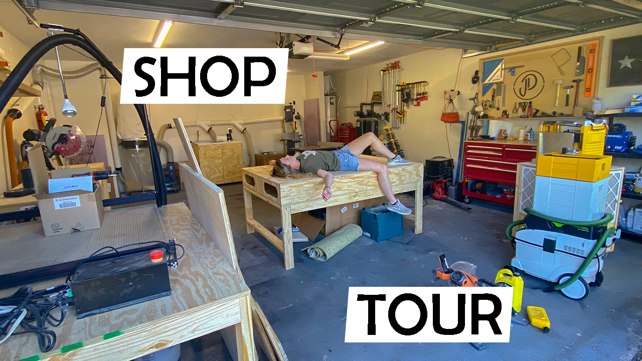 This is a picture of our new woodworking shop.