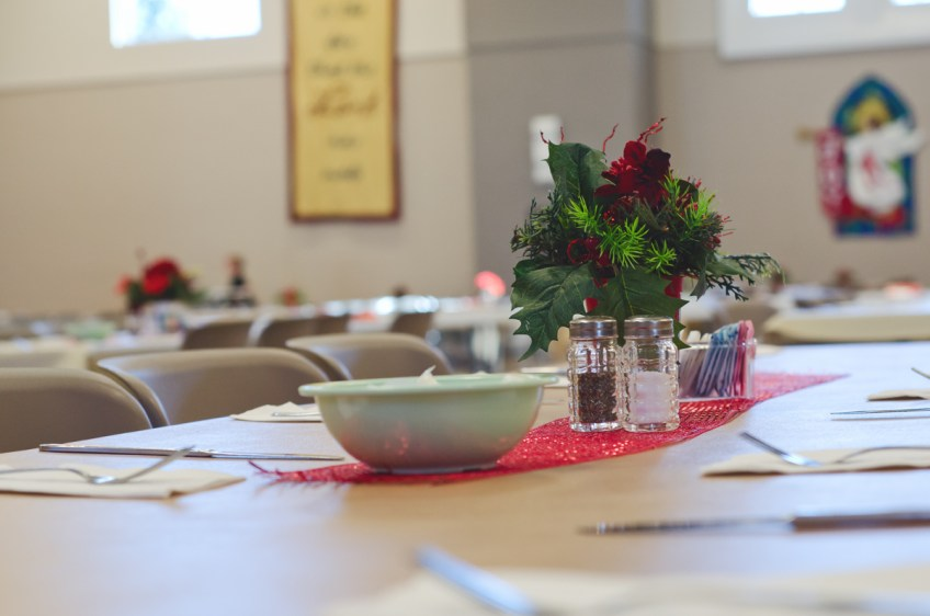 Tables at Christmas