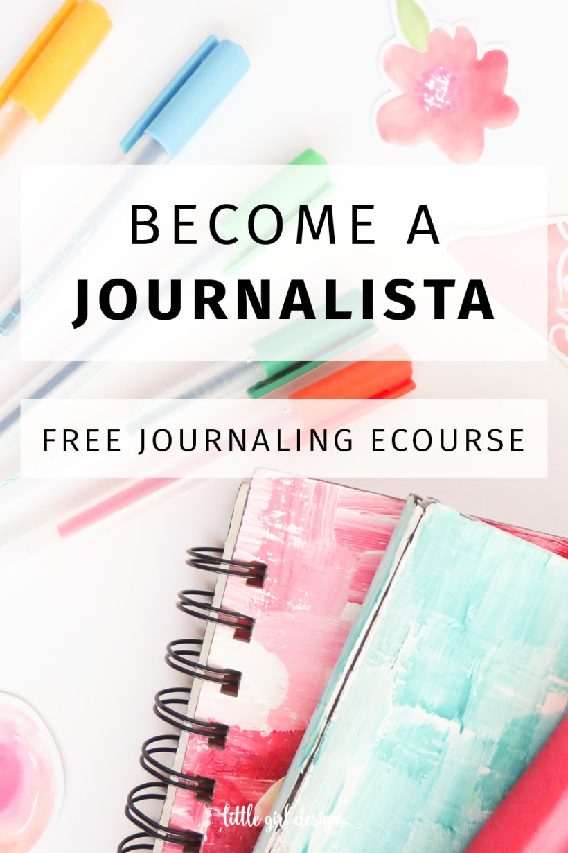 Join our free Journalista Challenge! This eCourse will help you get into your groove with journaling. We'll explore five different ways to journal, and every day you'll receive a prompt that you can use in your own journal. It'll be fun! And it's FREE!