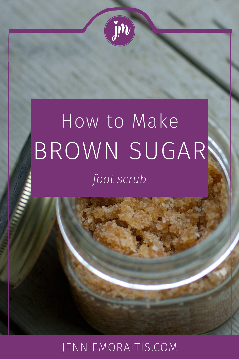 This brown sugar foot scrub is perfect for a DIY gift for a friend or yourself! You can use essential oils in this recipe to give your feet a spa treatment after a long day.