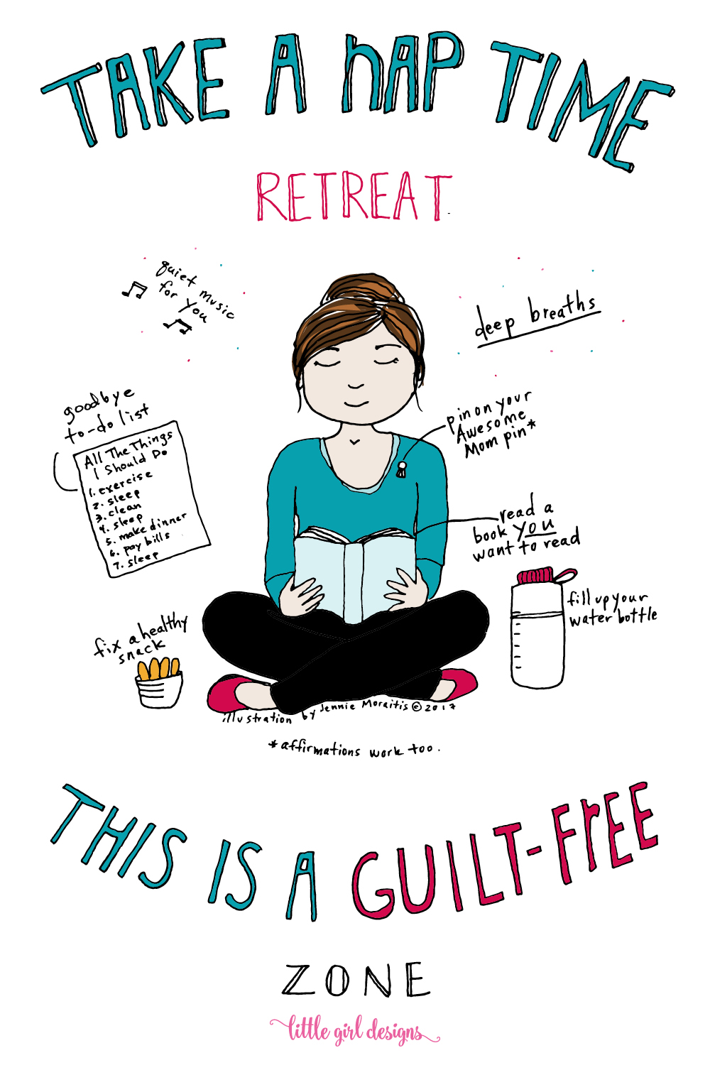A nap time retreat is just what I NEED! Usually I spend the whole time feeling guilty because I have so many things to do. This post really encouraged me to use that time to get re-energized and to rest. LOVE.