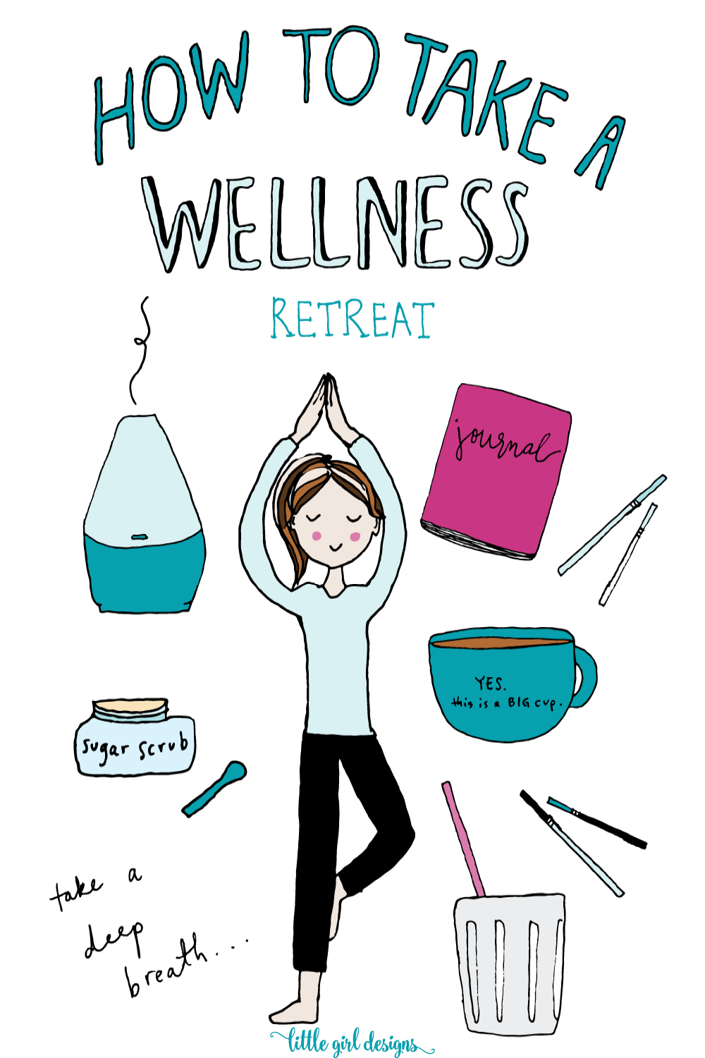 Yes, please! I need a personal retreat, and I love this idea to make my own. Wellness and health are important to me because if I don't take care of me, who will?! Still, it's hard to prioritize taking this time for myself sometimes. Love these ideas and that I can do them at home. :)