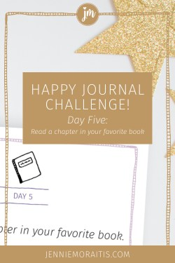 Want to increase your happiness quotient? In the happy journal challenge, we explore a variety of ways to enjoy the little things in life. Today our prompt is to read a book. Super easy! Click through for today's video!