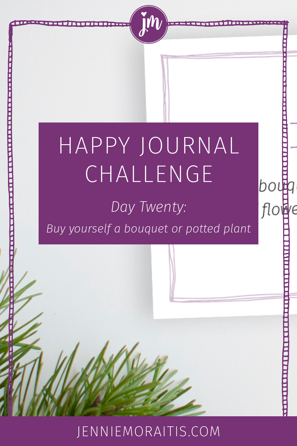 Even if you've got a black thumb, you can participate in today's prompt! Buy a plant and bring some life and beauty into your life (and increase your happiness!)