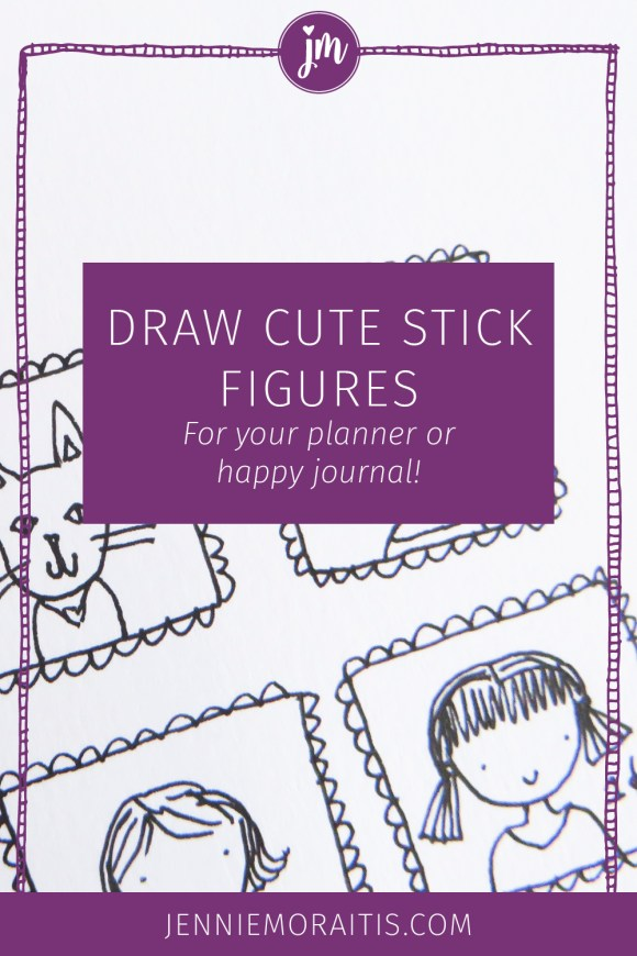 Today I'm going to teach you how to draw cute stick figures for your happy journal, planner, or four-year-old. We're going to unlock our playful side and learn that drawing is not something you have to go to art school for.