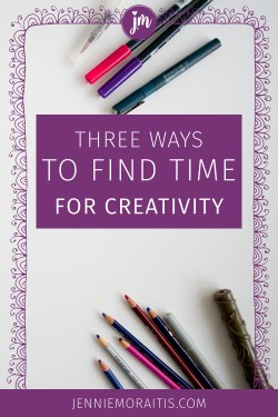 Oh my goodness, I NEED this! I always struggle to find time for creativity and my creative projects because I want to do them all...I knit, sew, paint, draw, and journal...But this post helped me realize how I can start doing them regularly. Yes! :)