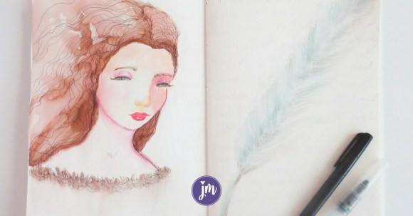 Don't we all need more magic in our lives? This sweet fairy princess was inspired by a forest walk. Learn how to make your own magical spread in your art journal!