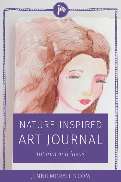 Don't we all need more magic in our lives? This sweet fairy princess was inspired by a forest walk. Learn how to make your own magical spread in your art journal! #princess #artjournal