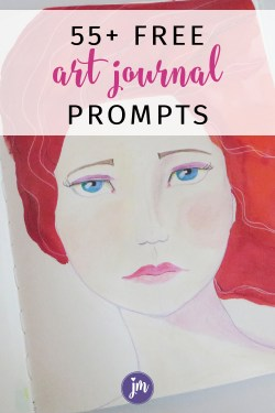 These free art journal prompts are a great way to stretch yourself creatively! I love all the ideas in this post; it made me want to grab my art journal and play! #artjournalprompts
