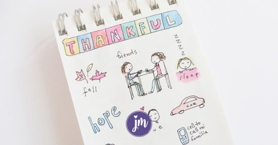 What a great idea to illustrate or doodle your gratitude list! I love this so much. I'm going to start my own happy journal this year. Sounds like something I can actually do! :)