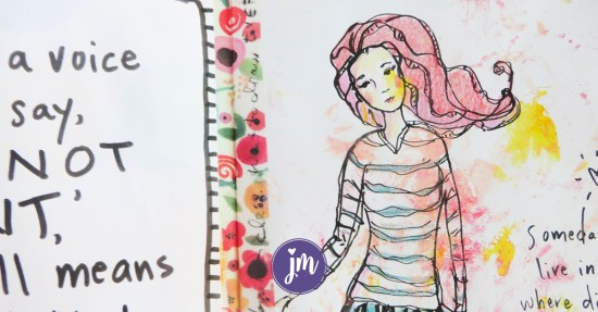 This free art journal prompts printable is great; I'm using it in my bullet journal this year! #artjournalgoals