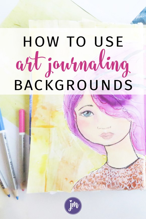 Have you ever used printable art journaling backgrounds in your journals? They are so much fun to use and super easy too! I love how they add such a variety of textures and color to my work that I wouldn't normally use. It's kind of like a colorful art journal prompt! This post includes a free art journaling background printable too. Love it!