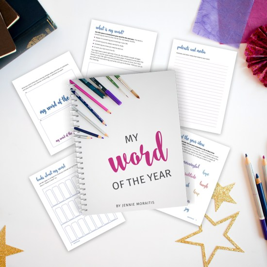 Click here to get your word of the year printable binder. You'll have space to track your word and learn all year long!