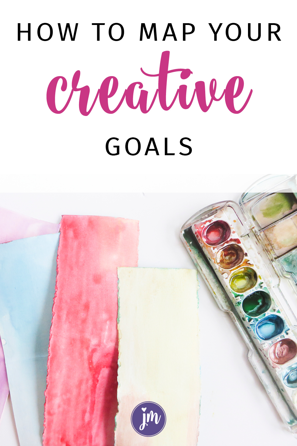 Learn how to create a goal map for your creative projects! This is such a great way to keep track of where you are and what you need to do PLUS you can make your goal map reflect your own unique personality. Love this idea!