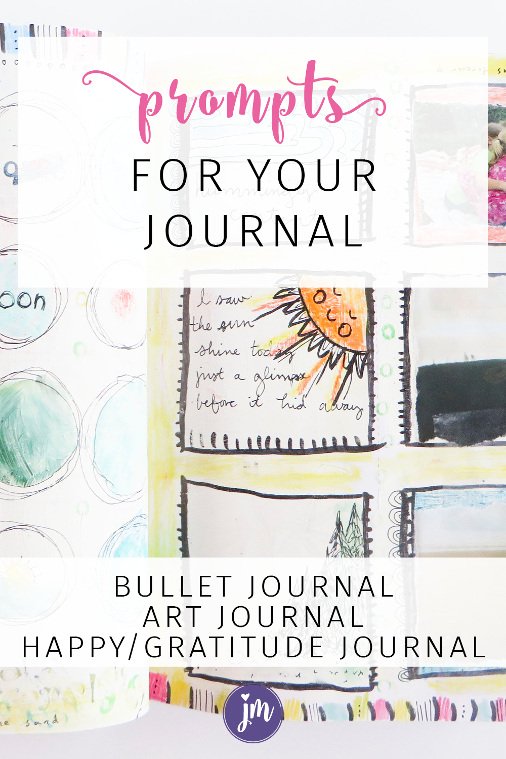 Looking for journal prompts? I LOVE this idea and have been doing it in my happy journal for the last week or so. It looks so amazing! These prompts also work great for bullet journals, dot journals, art journals, and gratitude journals. Try it!