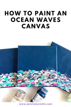 This is such an easy and satisfying project! Perfect for beginners and for anyone who wants to paint an acrylic wave painting for a gift or home decor! They are seriously so fun to make!