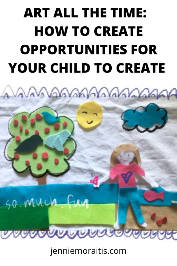 I love to make art, but I don't always like to set it up and clean up afterwards. But that doesn't mean my kiddo can't create on her own! Here are some of the many ways I make art and creativity accessible for her on a daily basis.