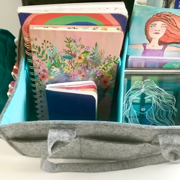 My New Mollie Ollie organizer is inspiring me to take more creative retreats! I love how everything is so accessible, and I can carry it anywhere with me. LOVE!
