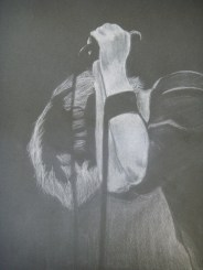 Lovely Boy; Medium-White charcoal. Click to enlarge