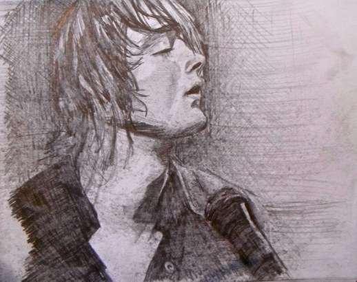 Sketch-Tom from a band called Keane, 2011