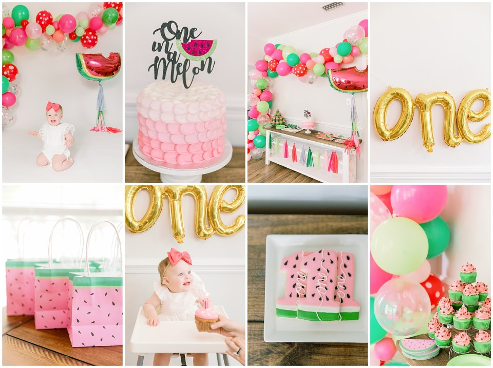 watermelon theme first birthday party