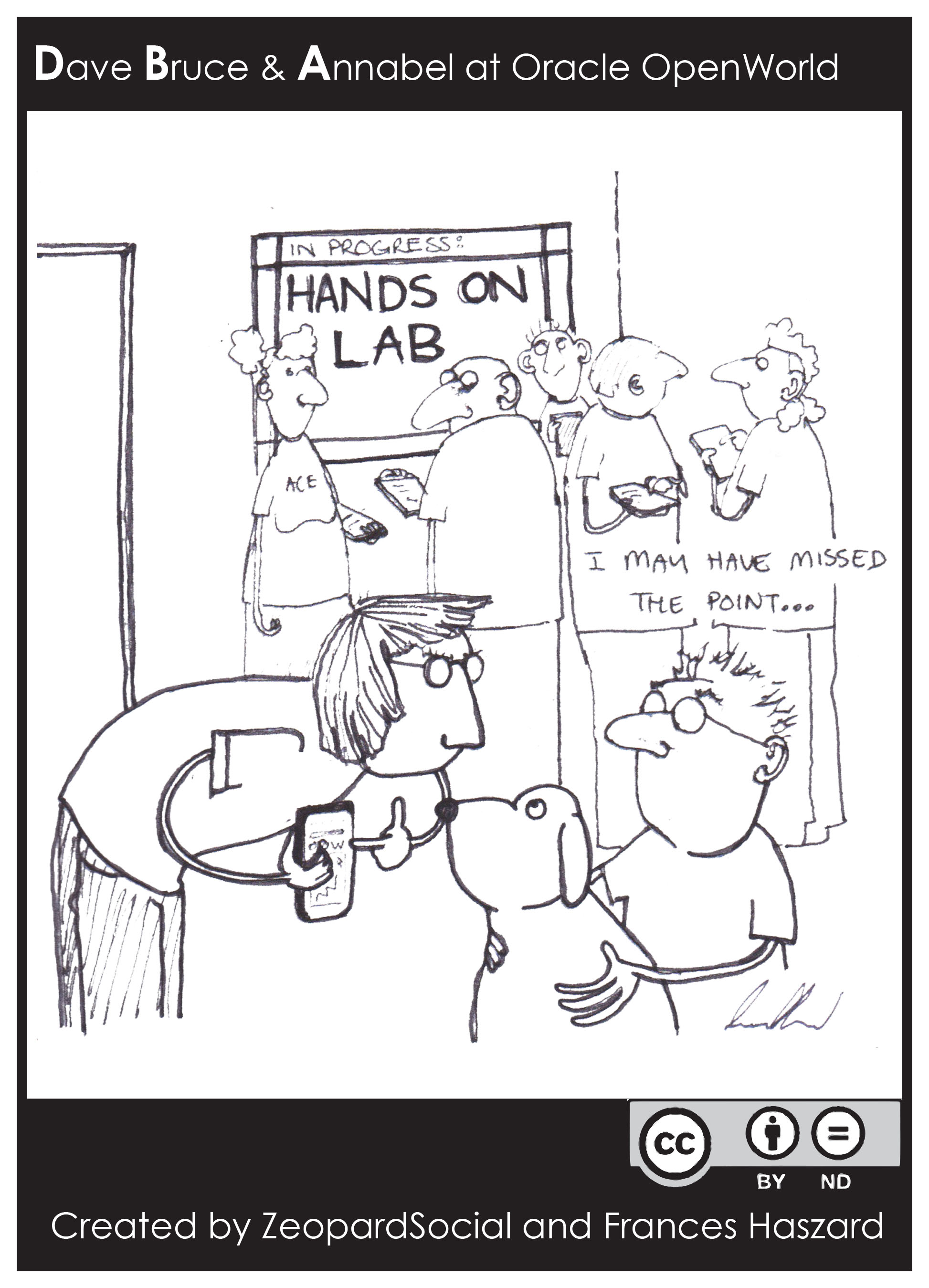 Dave and Bruce attend a hands on lab at Oracle Open World