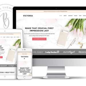A blog ecommerce WordPress theme for girl bosses and blog shops to showcase their business online in an elegant way. Learn more at Jennifer-Franklin.com.