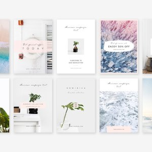Photoshop Pinterest Templates for feminine brands | Jennifer-Franklin.com