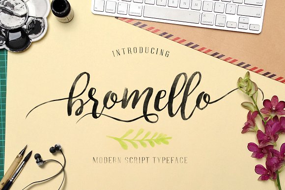 Script Font: Bromello | Modern Script Typeface