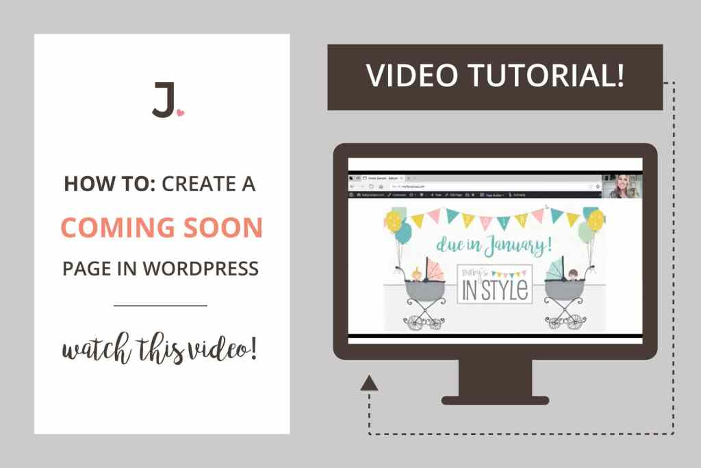 How To Create WordPress Coming Soon Page   Video Tutorial   Click through to watch the video at Jennifer-Franklin.com.
