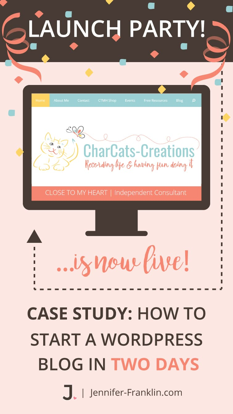 WordPress Paper Crafting Blog: CharCats-Creations.com | Case Study: How To Start A WordPress Blog In Two Days. Download your free blog planner at Jennifer-Franklin.com.