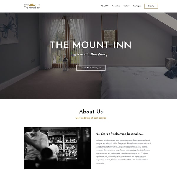 Ready Made Website | Hotel and BnB Website | Jennifer-Franklin.com