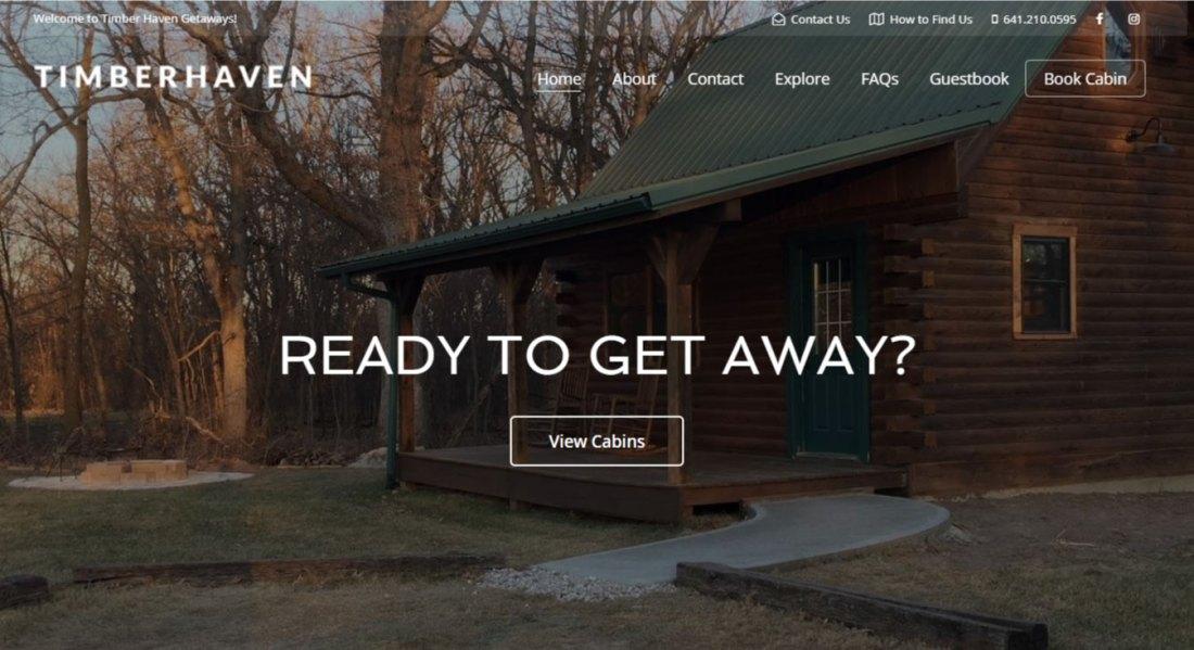 WordPress Website Design | Jennifer Franklin Portfolio | Cabin Rental Website Design | Jennifer-Franklin.com
