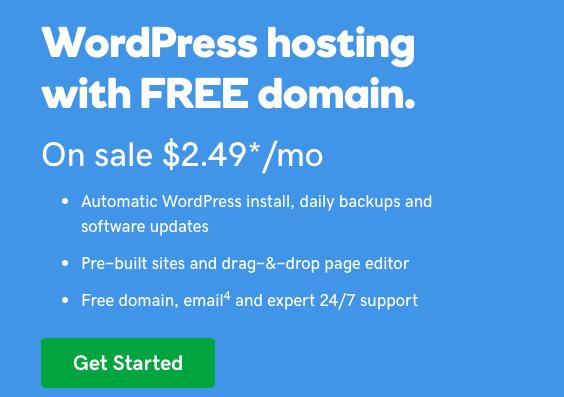 godaddy wordpress hosting with free domain   godaddy coupon codes   Jennifer-Franklin.com