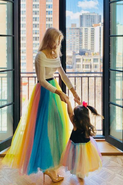 rainbow tulle skirts