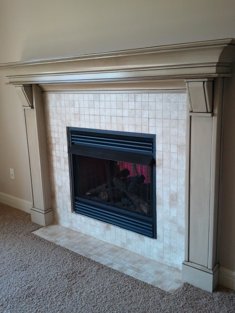 paint fireplace tile a diy makeover
