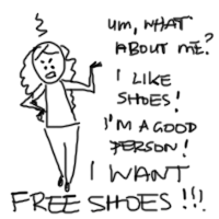 angry jen doodle free shoes