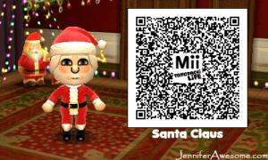 Tomodachi Life Santa Claus And Mrs Claus QR Codes