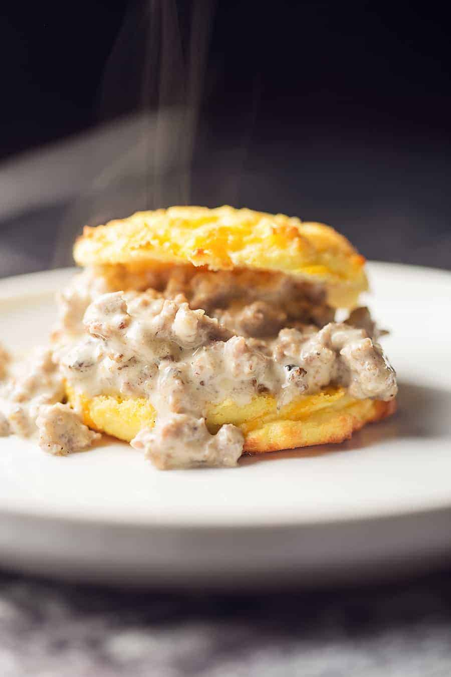 Low Carb Biscuits & Gravy