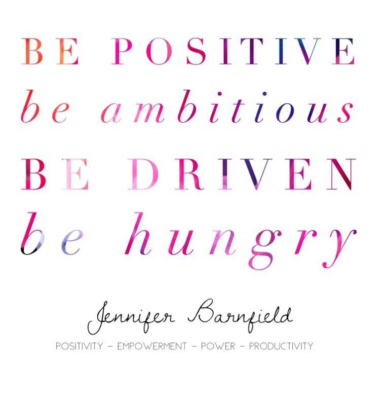 Jennifer Barnfield - Be Positive