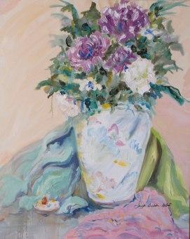 Chinese-Vase-Still-Life,-by-Jennifer-Bentson,-Oil,-16'-x-20'