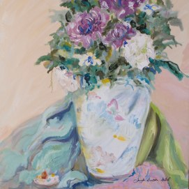 Chinese-Vase-Still-Life,-by-Jennifer-Bentson,-Oil,-16'-x-20'