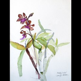 Michol's-Orchid,-by-Jennifer-Bentson,-Watercolor,-12'-x-16'