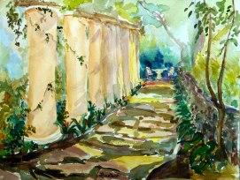 Mystic-Garden,-by-Jennifer-Bentson,-Watercolor,-12'-x16'