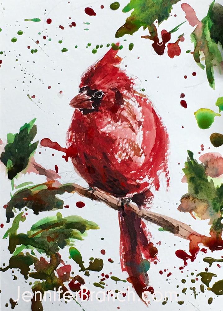 12 Days Of Christmas Cards Cardinal