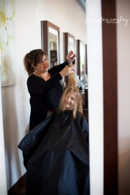 Kids hair cuts benefiting the Gulf Restoration Network Aveda Earth Month