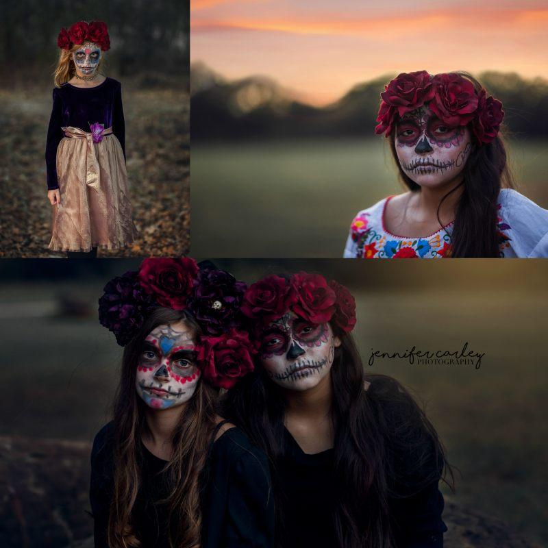 Dallas Child Family Photographer Dia de los Muertos
