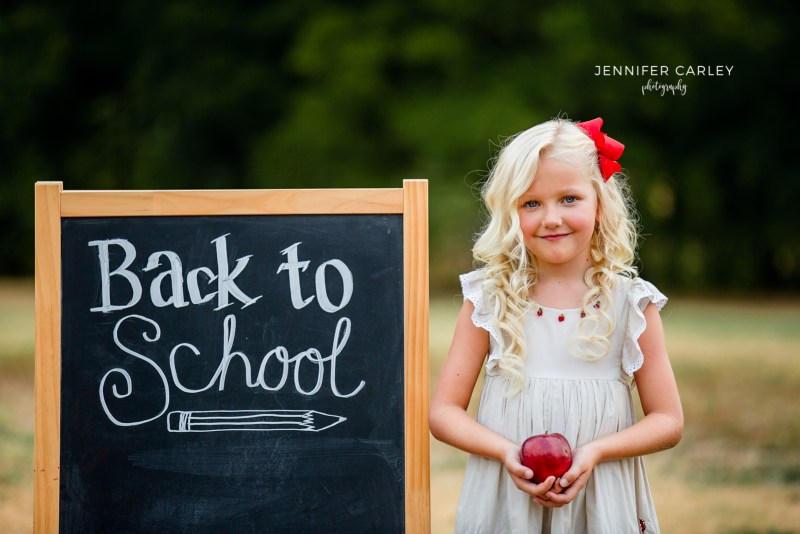Flower Mound Child Photographer Back to School Mini Sessions