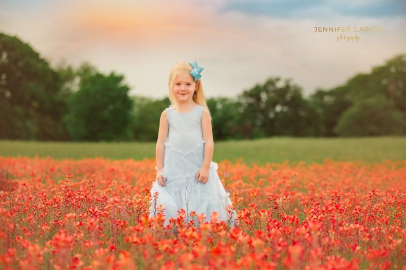 Child Family Photographer Flower Mound Denton Photographer Dallas wildflowers