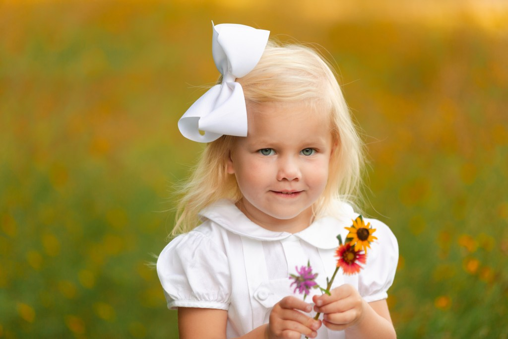 Child Family Photographer Flower Mound Wildflowers